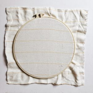 20cm Embroidery Hoop with Monk's Cloth for Yarn Painting